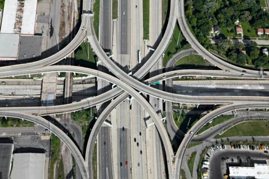 Amazing Roads Diverge Aerial Photos