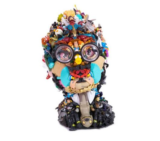 Creative Sculptures Made Of Toys