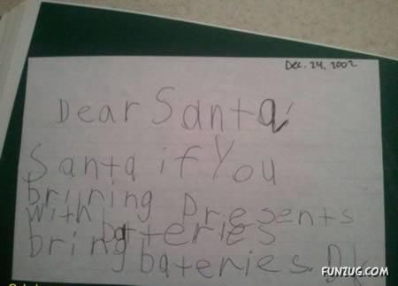 Hilarious Letters To Santa For Christmas