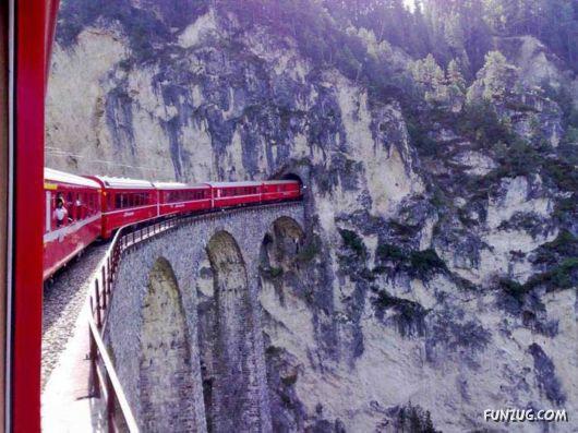 Amazing Switzerland Railway Bridge