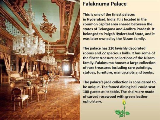 The Magnificent Taj Flaknuma Palace