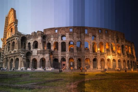 Time-Slice Photography Of Different Places