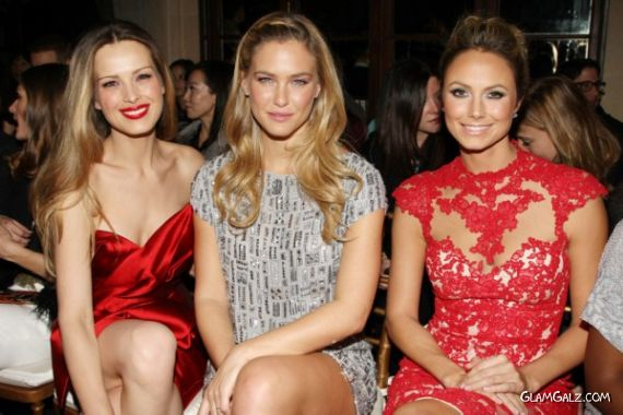 Bar Refaeli, Petra Nemvoca and Stacy Keibler At Marchesa Show