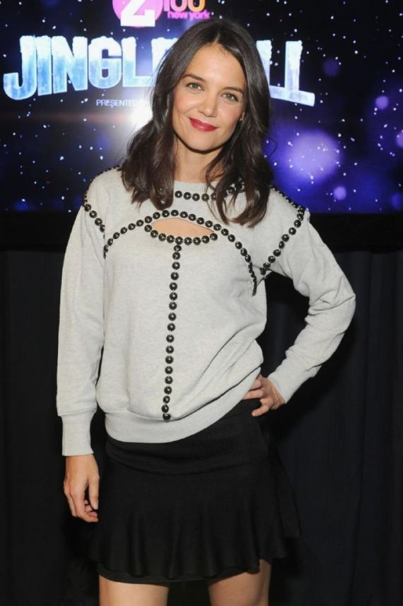 Katie Holmes Attends Z100 Jingle Ball In New York