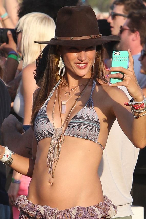Alessandra Ambrosio Out In Coachella
