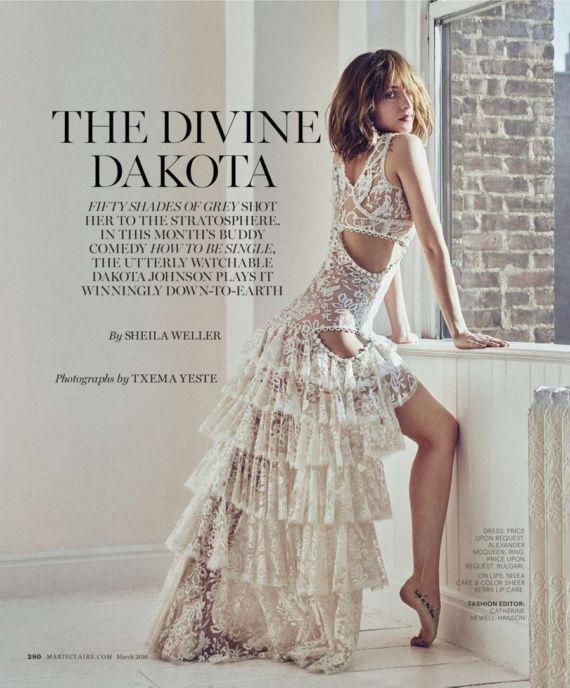 Dakota Johnson For Marie Claire March 2016