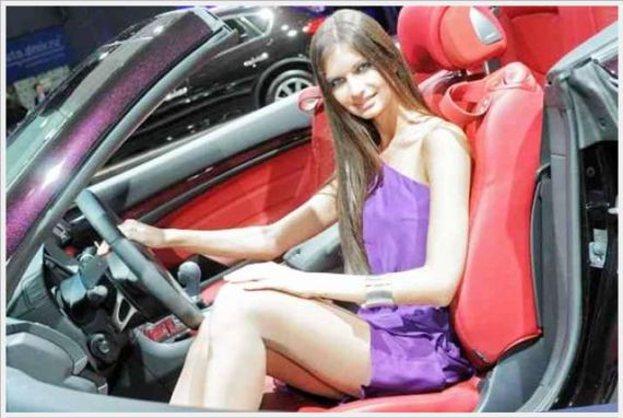 Auto Show Galz In Moscow