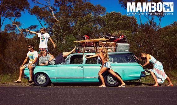 Nina Agdal For Mambo Swimwear Shoot