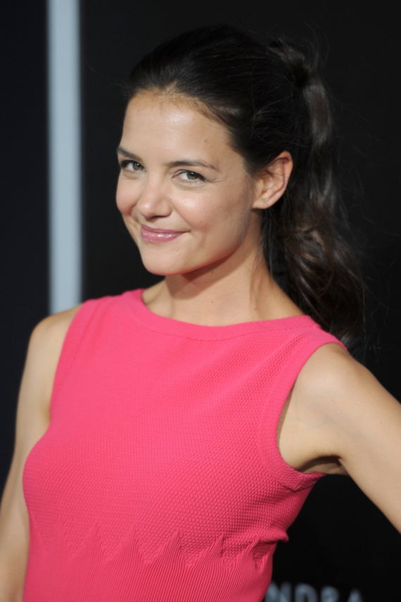 Smiley Katie Holmes At Gravity Premiere