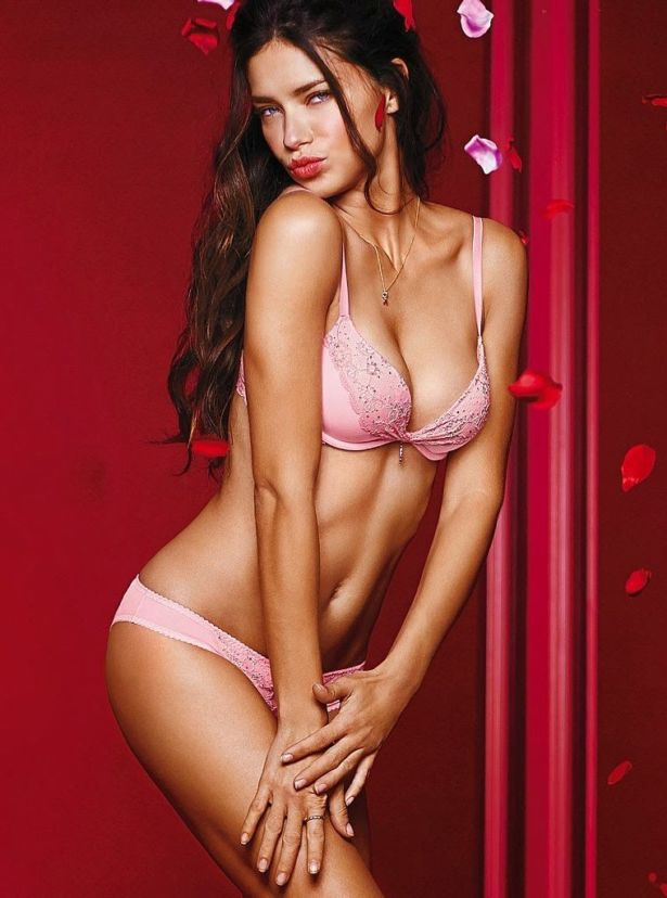 Adriana Lima For VS Valentines Day Collection 2014