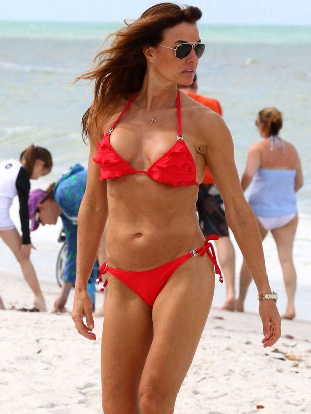 Kelly Bensimon On The Beach In Florida