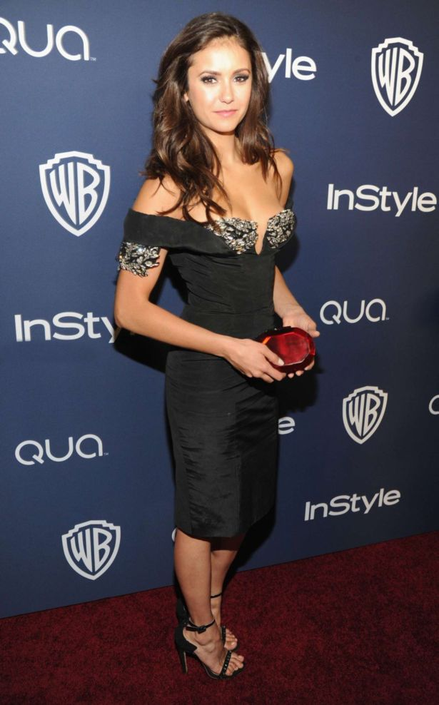 Nina Dobrev Attends 2014 Golden Globes Event