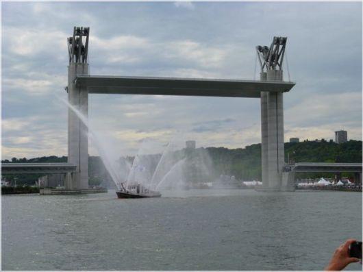 Amazing Gustave Flaubert Bridge, France